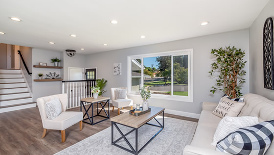 Living space designed by Chamblee Home Improvement